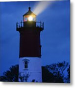 Nauset Lighthouse Night Metal Print