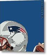 New England Patriots Original Typography Football Team Metal Print