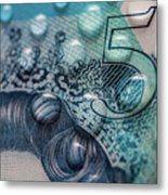 New Uk Five Pound Note Metal Print