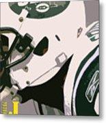 New York Jets Football Team And Original Typography Metal Print