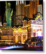 New York New York Casino Metal Print
