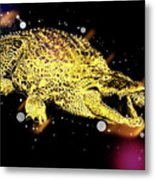 Nile River Crocodile Metal Print