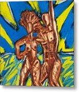 2 Nude Dancers Metal Print