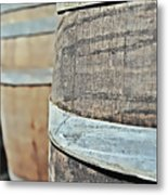 Oak Wine Barrel Metal Print