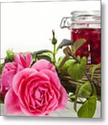 Oil Mixture Of Essential Oils For Aromatherapeutic Use Metal Print