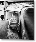 Old Farm Ford - Pov 1 Bw Metal Print
