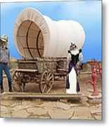 Old West Cats  Metal Print