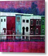 On The Banks Of The Grand River Metal Print