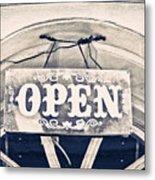 Open Sign Metal Print