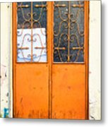 Orange Door Metal Print