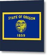 Oregon Flag Metal Print