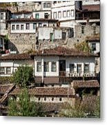 Ottoman Architecture View In Historic Berat Old Town Albania Metal Print