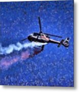 Painting Of Airbus Ec-120b Helicopter Metal Print