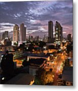 Panama City At Night Metal Print