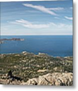 Panoramic View Across Calvi Bay And Revellata In Corsica Metal Print