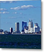 Panoramic View Of Atlantic City, New Jersey Metal Print