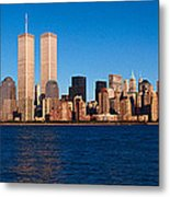 Panoramic View Of Lower Manhattan Metal Print
