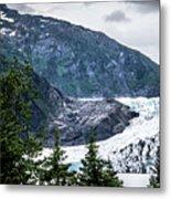 Panoramic View Of Mendenhall Glacier Juneau Alaska Metal Print