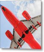 Passenger Jet Coming In For Landing  Metal Print