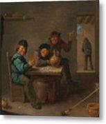 Peasants In A Tavern Metal Print
