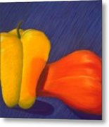 2 Peppers Metal Print