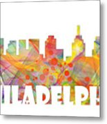Philadelphia Pennsylvania Skyline Metal Print
