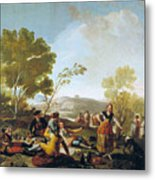 Picnic On The Banks Of The Manzanares Metal Print