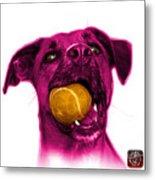 Pink Boxer Mix Dog Art - 8173 - Wb Metal Print