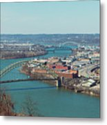 Pittsburg Skyline Metal Print