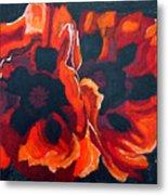 2 Poppies Metal Print