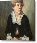 Portrait Of A Seated Child Metal Print