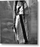 Portrait Of Cree Indian Warrior Metal Print