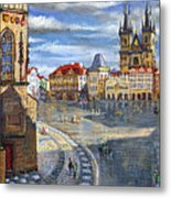 Prague Old Town Squere Metal Print