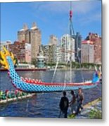 Preparation For The 2016 Dragon Boat Festival Metal Print