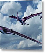 Pterodactyls In Flight Metal Print