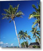 Puka Beach In Tropical Paradise Boracay Philippines Metal Print