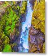 Pyrenees Waterfall Metal Print