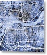 Quad Cities Street Map Metal Print