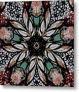 Quilted Starflower Metal Print