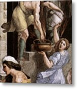Raphael The Fire In The Borgo  Metal Print