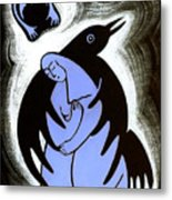 Raven Holds Me When I Weep Metal Print by Angela Treat Lyon