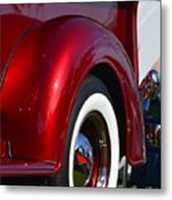 Red Chevy Pickup Fender Metal Print