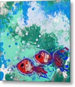 2 Red Fish Metal Print