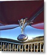 Red Ford Hotrod Metal Print