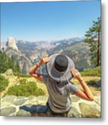 Relaxing At Glacier Point Metal Print