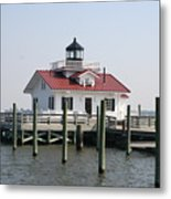 Roanoke Marshes Lighthouse Metal Print