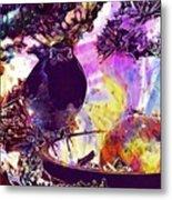Robin Erithacus Rubecula Bird  Metal Print
