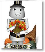 Robo-x9 The Pilgrim Metal Print