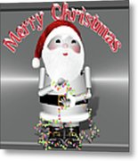 Robo-x9 Wishes A Merry Christmas Metal Print