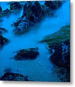 Rock Formations On The Coast, Central Metal Print